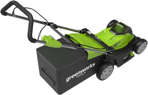 Greenworks G40LM41K2x Cordless Lawnmower top view